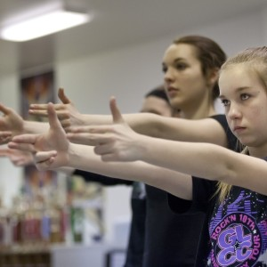 Senior Starlites' Jamie Rich, 14, practices her hip-hop dance routine with her team Wednesday at the Huron Physical Arts Center in downtown Port Huron. (Photo: JEFFREY M. SMITH/TIMES HERALD)