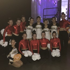 Starlites Junior Pom Team with Team Japan