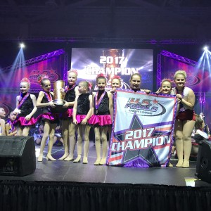 Starlites Mini Pom and Hip Hop Team 1st place Champions